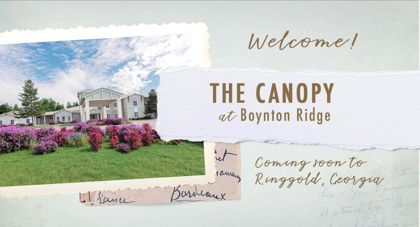 Welcome to The Canopy at Boynton Ridge, an assisted living and memory care community coming soon to Ringgold Georgia